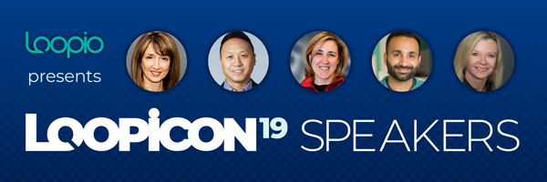 Email banner featuring five headshots of Loopicon speakers